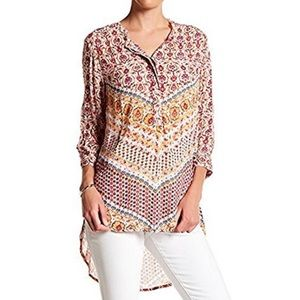 Nine West Jeans Floral roll tab Lucy floral tunic
